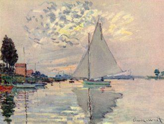 Claude Monet, Vela sulla Senna ad Argenteuil, 1873
