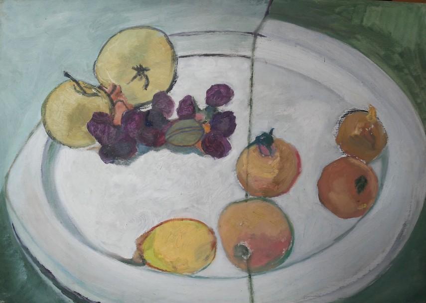 Enza Coratolo_Melagrane e piatto bianco