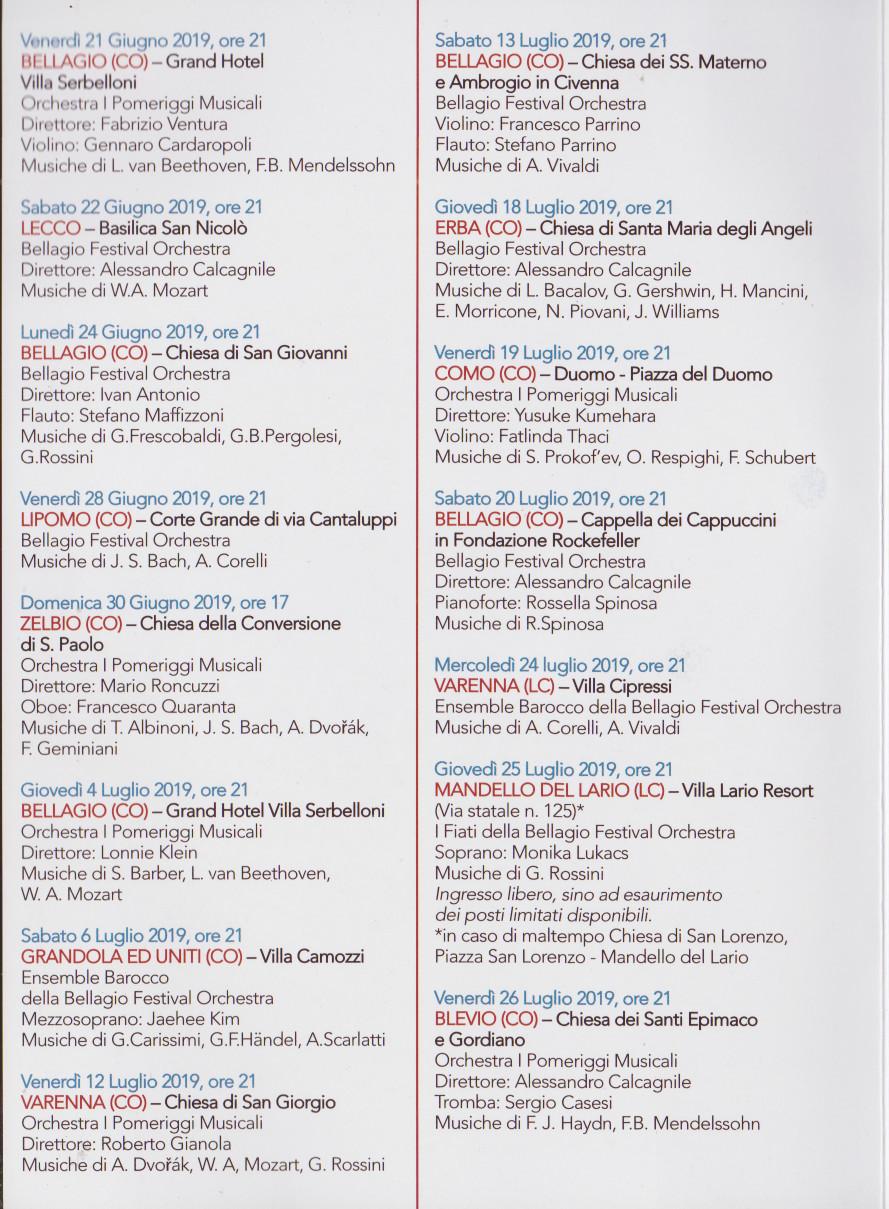 Festival Di Bellagio E Del Lago Di Como Dal 21 Giugno All11 Agosto